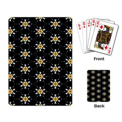 Background For Scrapbooking Or Other With Flower Patterns Playing Card