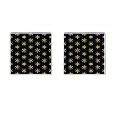 Background For Scrapbooking Or Other With Flower Patterns Cufflinks (Square)