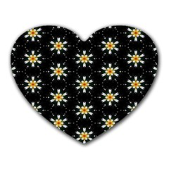 Background For Scrapbooking Or Other With Flower Patterns Heart Mousepads