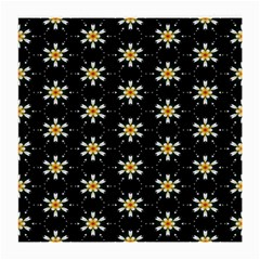 Background For Scrapbooking Or Other With Flower Patterns Medium Glasses Cloth (2 Side)