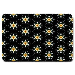 Background For Scrapbooking Or Other With Flower Patterns Large Doormat