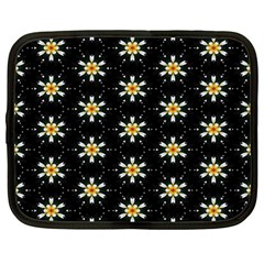 Background For Scrapbooking Or Other With Flower Patterns Netbook Case (Large)