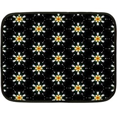 Background For Scrapbooking Or Other With Flower Patterns Double Sided Fleece Blanket (Mini)