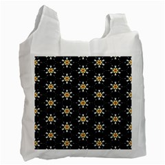 Background For Scrapbooking Or Other With Flower Patterns Recycle Bag (one Side)
