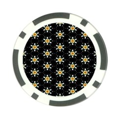 Background For Scrapbooking Or Other With Flower Patterns Poker Chip Card Guard (10 pack)