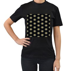 Background For Scrapbooking Or Other With Flower Patterns Women s T-Shirt (Black)