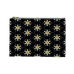 Background For Scrapbooking Or Other With Flower Patterns Cosmetic Bag (Large)