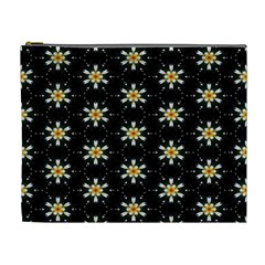 Background For Scrapbooking Or Other With Flower Patterns Cosmetic Bag (XL)