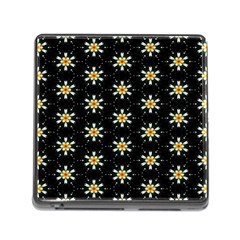Background For Scrapbooking Or Other With Flower Patterns Memory Card Reader (Square)