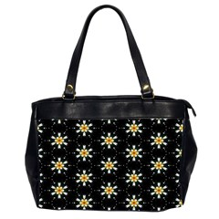 Background For Scrapbooking Or Other With Flower Patterns Office Handbags (2 Sides)