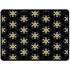 Background For Scrapbooking Or Other With Flower Patterns Fleece Blanket (Large)