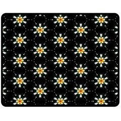 Background For Scrapbooking Or Other With Flower Patterns Fleece Blanket (Medium)