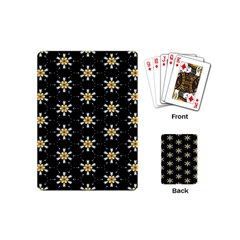 Background For Scrapbooking Or Other With Flower Patterns Playing Cards (Mini)