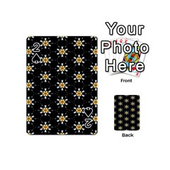 Background For Scrapbooking Or Other With Flower Patterns Playing Cards 54 (Mini)