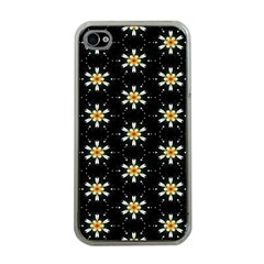 Background For Scrapbooking Or Other With Flower Patterns Apple Iphone 4 Case (clear)