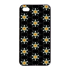Background For Scrapbooking Or Other With Flower Patterns Apple iPhone 4/4s Seamless Case (Black)