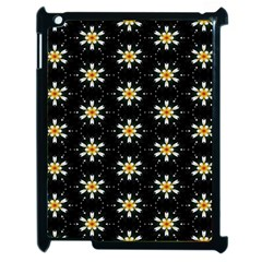 Background For Scrapbooking Or Other With Flower Patterns Apple iPad 2 Case (Black)