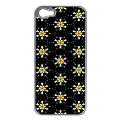 Background For Scrapbooking Or Other With Flower Patterns Apple iPhone 5 Case (Silver)