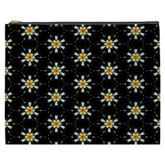 Background For Scrapbooking Or Other With Flower Patterns Cosmetic Bag (XXXL)
