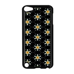 Background For Scrapbooking Or Other With Flower Patterns Apple Ipod Touch 5 Case (black)