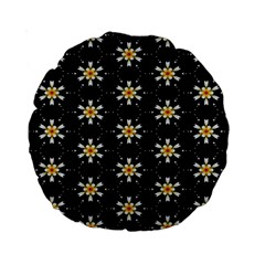 Background For Scrapbooking Or Other With Flower Patterns Standard 15  Premium Round Cushions