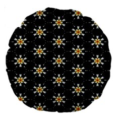 Background For Scrapbooking Or Other With Flower Patterns Large 18  Premium Round Cushions