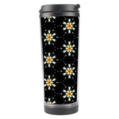 Background For Scrapbooking Or Other With Flower Patterns Travel Tumbler