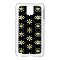 Background For Scrapbooking Or Other With Flower Patterns Samsung Galaxy Note 3 N9005 Case (white)