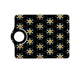 Background For Scrapbooking Or Other With Flower Patterns Kindle Fire Hd (2013) Flip 360 Case