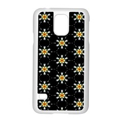 Background For Scrapbooking Or Other With Flower Patterns Samsung Galaxy S5 Case (white)