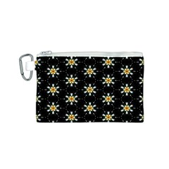 Background For Scrapbooking Or Other With Flower Patterns Canvas Cosmetic Bag (S)