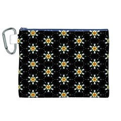 Background For Scrapbooking Or Other With Flower Patterns Canvas Cosmetic Bag (XL)