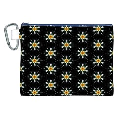 Background For Scrapbooking Or Other With Flower Patterns Canvas Cosmetic Bag (XXL)