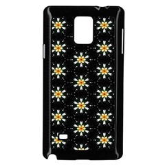 Background For Scrapbooking Or Other With Flower Patterns Samsung Galaxy Note 4 Case (black)