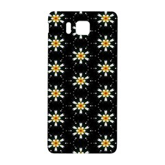 Background For Scrapbooking Or Other With Flower Patterns Samsung Galaxy Alpha Hardshell Back Case