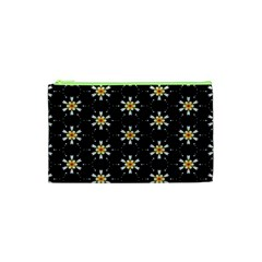 Background For Scrapbooking Or Other With Flower Patterns Cosmetic Bag (XS)
