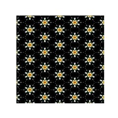 Background For Scrapbooking Or Other With Flower Patterns Small Satin Scarf (square)