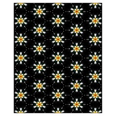 Background For Scrapbooking Or Other With Flower Patterns Drawstring Bag (small)