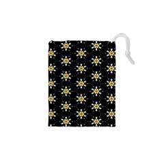 Background For Scrapbooking Or Other With Flower Patterns Drawstring Pouches (XS)