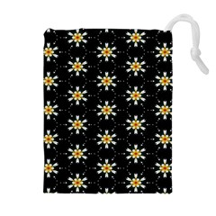 Background For Scrapbooking Or Other With Flower Patterns Drawstring Pouches (extra Large)