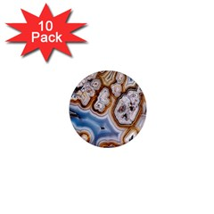 Honey Comb Agate Gold 1  Mini Magnet (10 Pack)