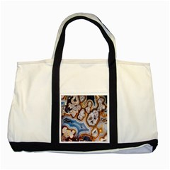 Honey Comb Agate Gold Two Tone Tote Bag