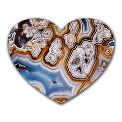 Honey Comb Agate Gold Heart Mousepads