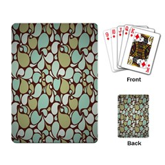 Leaf Camo Color Flower Floral Playing Card