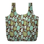 Leaf Camo Color Flower Floral Full Print Recycle Bags (L)  Front