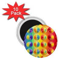 Background For Scrapbooking Or Other 1 75  Magnets (10 Pack)
