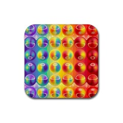Background For Scrapbooking Or Other Rubber Coaster (Square)