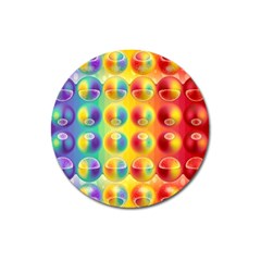Background For Scrapbooking Or Other Magnet 3  (round)