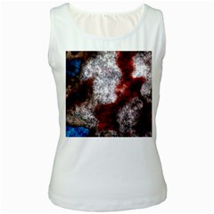 Background For Scrapbooking Or Other Women s White Tank Top