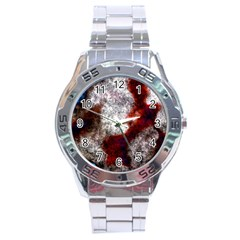 Background For Scrapbooking Or Other Stainless Steel Analogue Watch